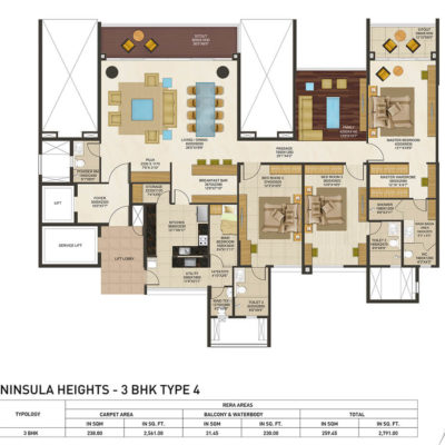 peninsula-heights-jp-nagar-floor-plans